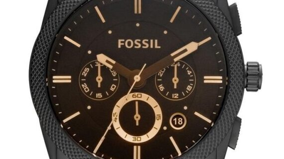 Fossil Machine Chronograph Brown Dial Men's Watch for man Formal Casual - FS4656 (Best Gift For Man)