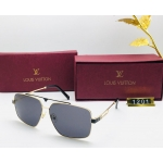Louis Vuitton Branded Black Glass Men's and Women's Sunglass for Man and Woman or Girls LV-1201 Gold And Black Frame Unisex Gift Sunglass