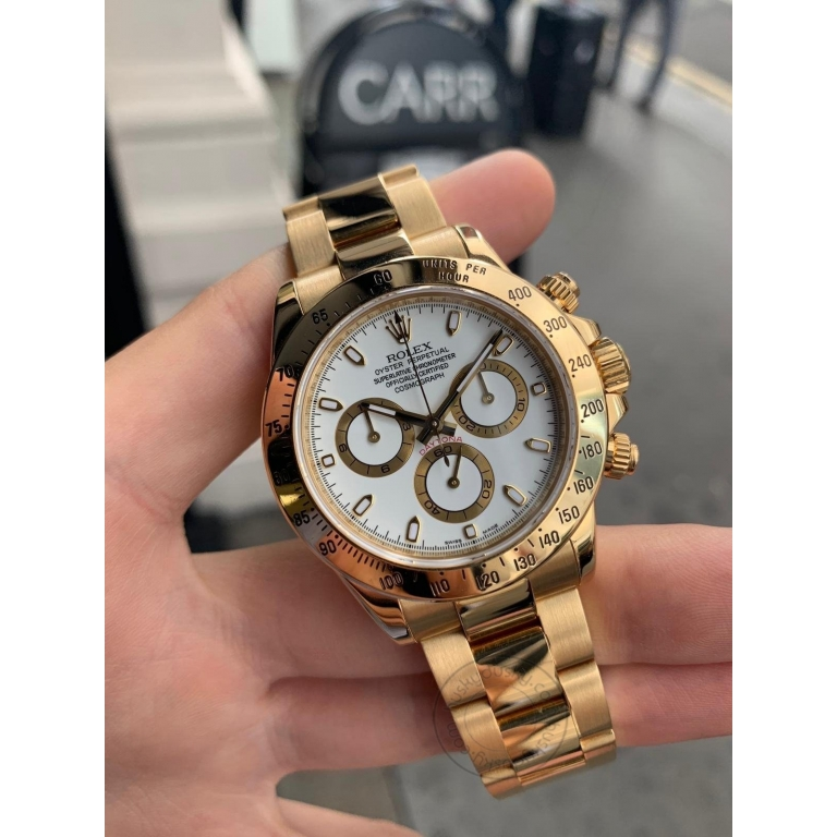 ROLEX Automatic Daytona Gold White Dial Metal Men's Automatic Watch for Man RLX-GOLD
