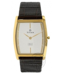 Titan Edge White Dial Brown Leather Strap Analog Watch NM1044YL06 Watch For Man