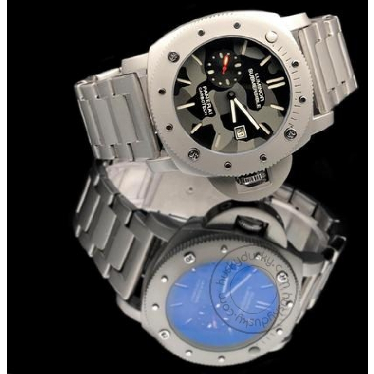 Luminor Submersible [Panerai Carbotech] Lr-111 Multi Color Dial Stainless Steel Chain For Men's Gift Watch
