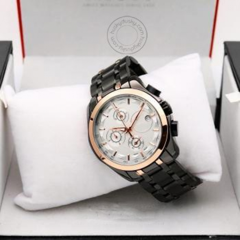 Imported Black White Chronograph New Stylish Branded Men's Watch For Man Men Jacket For Man Ts-616BW
