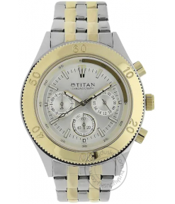 Titan Octane Analog Silver Dial Multicolored Stainless Steel Strap Watch NM9324BM01