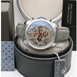 Tag heuer CR7 Diagno Grey Chronograph Multi Dial Leather Mens TAG-CAR2110-SILVER Watch for Man - Gift