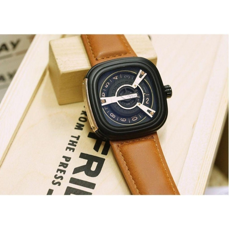 Imported Sf-Br894 Men's Watch For Men Brown Square Dial Best Gift 7 Friday