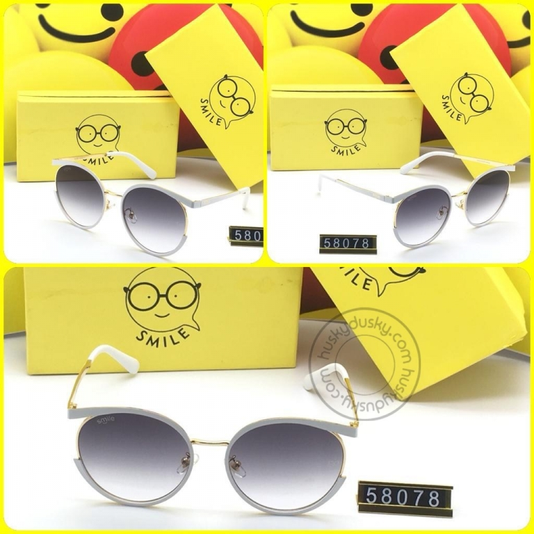 Smile Double Shaded Glass Man's Women's Sunglass for Man Woman or Girl SM-AA-00 Multi Color Frame Gift Sunglas