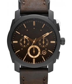 Imported Machine Chronograph Brown Dial Men's Watch For Man Formal Casual - Fs4656 (Best Gift For Man)