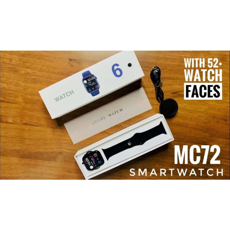 MC72 Pro Smartwatch with 52+ Wallpapers Full Featured Watch for Men and Women