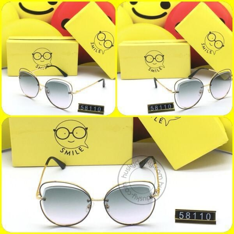 Smile Double Shaded Glass Man's Women's Sunglass for Man Woman or Girl SM-BB-12 Black GoldenFrame Gift Sunglas