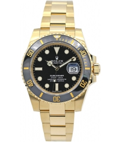 ROLEX Submariner Automatic Gold Black Dial Metal Mens Watch for Man Rlx-Sub-GB