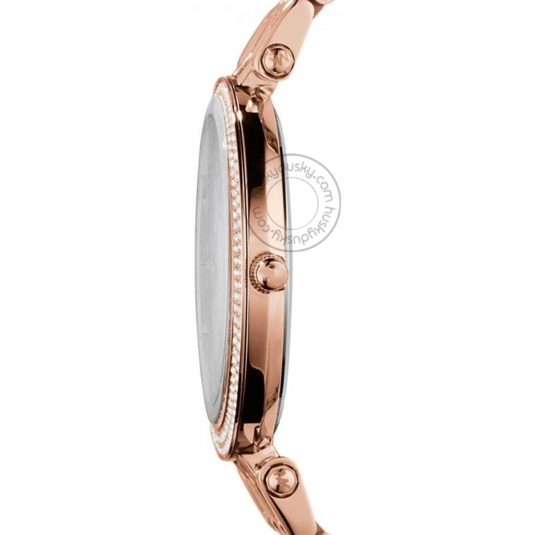 Imported Darci Rose Gold Diamond Case Women's Watch For Girl Or Woman Rose Gold Dial Mk3192