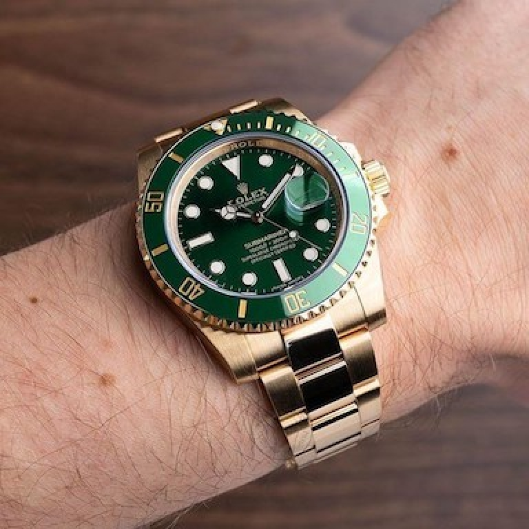 Rolex Submariner Automatic Gold Green Dial Metal Men's Watch For Man Rlx-Gg-Sub