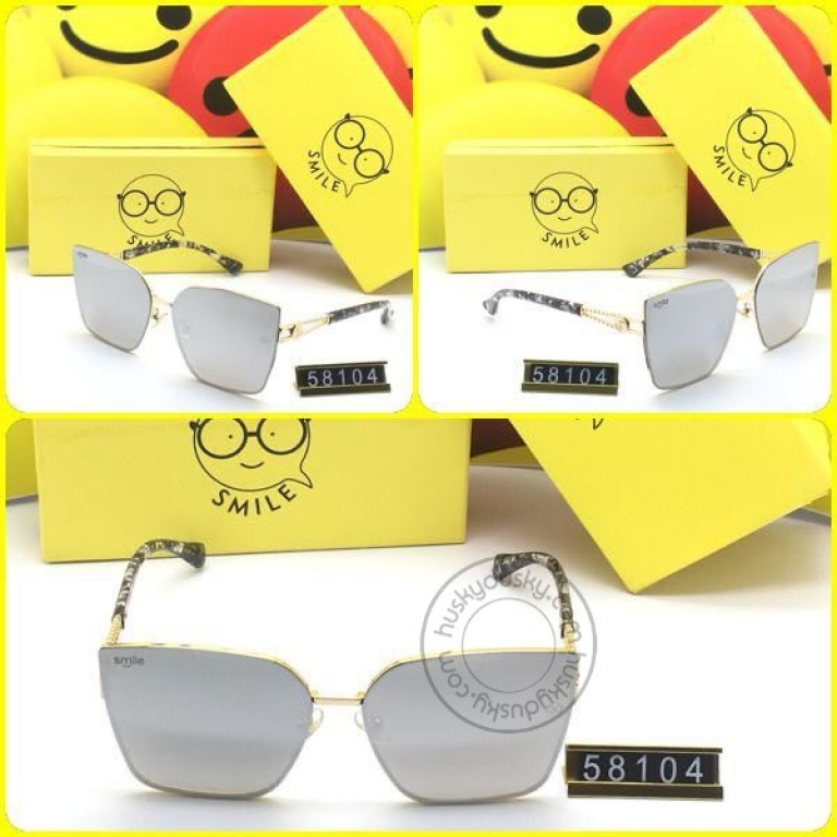 Smile Grey Glass Women's Sunglass for Woman or Girl SM-D-22 Black Frame Gift Sunglas