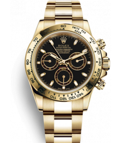 Rolex Cosmograph Chronograph Automatic Gold Strap Men's Watch For Man RLX-GOLD-004 Black Dial Gift Watch