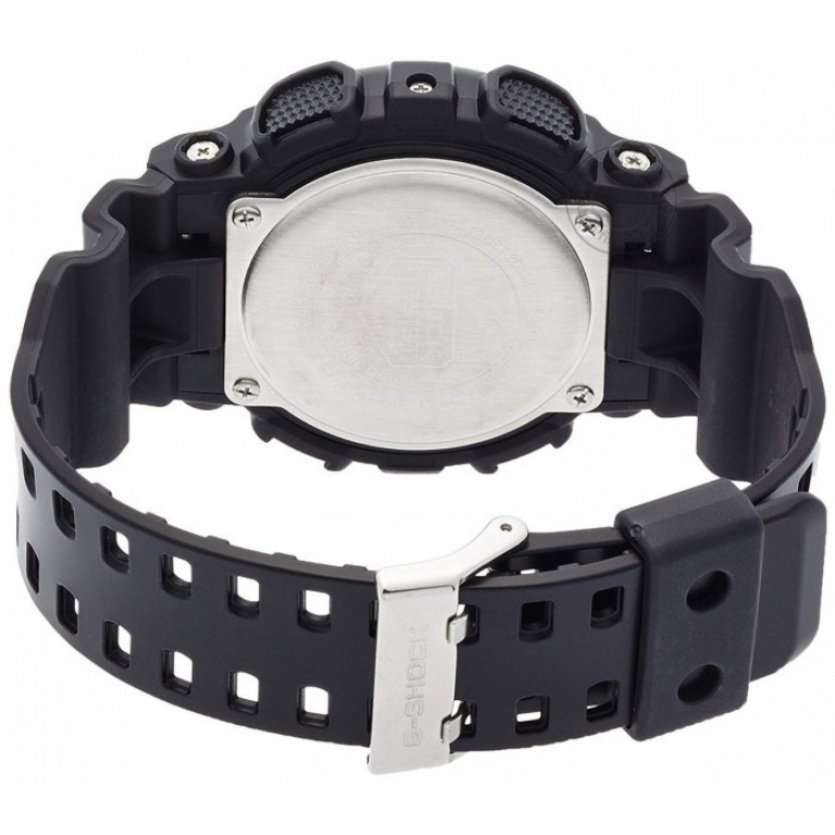 Casio G-Shock Analog Digital Black Belt Men's Watch For Man GA-100CF-1A9DR Multi Color Dial Day And Date Gift Watch