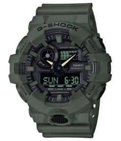 Casio G-Shock Analog Digital Olive Green Belt Men's Watch For Man GA700UC-3A Black Color Dial Day And Date Gift Watch Shock
