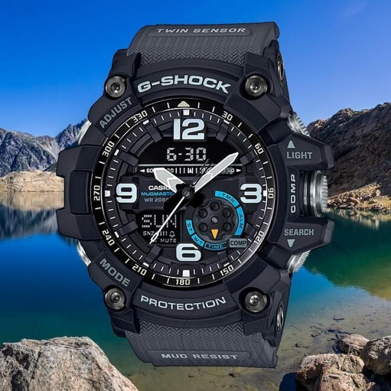 Casio G-Shock Analog Digital Grey Belt Men's Watch For Man GA-1000-1A8 Mud-Resist Multi Color Dial Day And Date Gift Watch Gshock