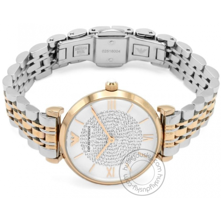 Emporio Armani Watch AR1926 Silver Dimond Dial Multi Color Strap For Women-Best gift