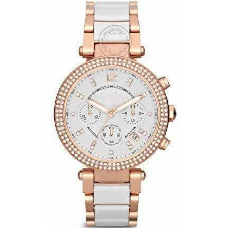 Imported Parker Chronograph White Womens Watch For Girl Or Woman Mk5774 Diwali Festive Sale