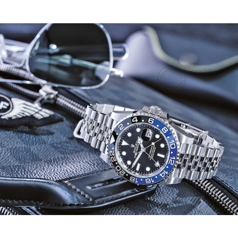 Rolex GMT-Master II Batman 116710BLNR Stainless Steel Automatic Black Dial Blue And Red Mens Watch For Man