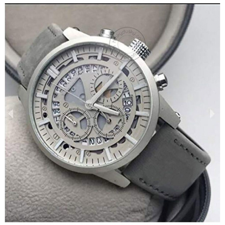 Imported Grey Chronograph Leather Men's Watch For Man M1122 Formal Casual
