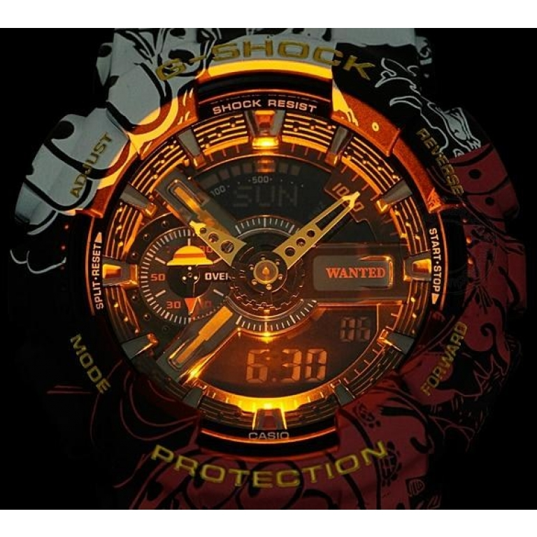 Casio G-Shock Analog Digital Adopts red, black and white Belt Men's Watch For ManGA-110JOP-1A4 Sports Multi Color Dial Day And Date Gift Watch