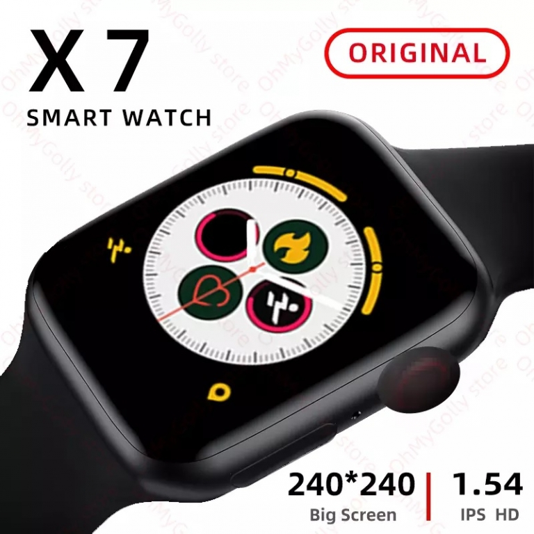 Smart Watch X7 Black Color With Exercise Monitoring