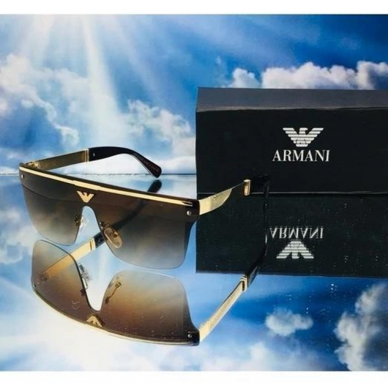 Armani Branded Brown Glass Men's and Women's Sunglass For Man and Woman Or Girls ARM-33 Multi Color Stick Unisex gift Sunglass