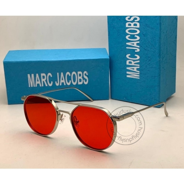 Marc Jacobs Branded Red Glass Men's Sunglass For Man MJ-61 Silver Stick Gift Sunglass