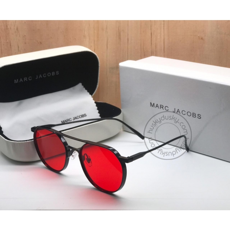 New DITA Red Color Glass Women's Sunglass for Woman or Girl DT-01 Black Frame Gold Stick Gift Sunglass