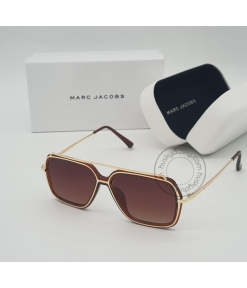 Marc Jacobs Branded Brown Glass Men's Sunglass For Man MJ-75 Brown & Gold Stick & Frame Gift Sunglass