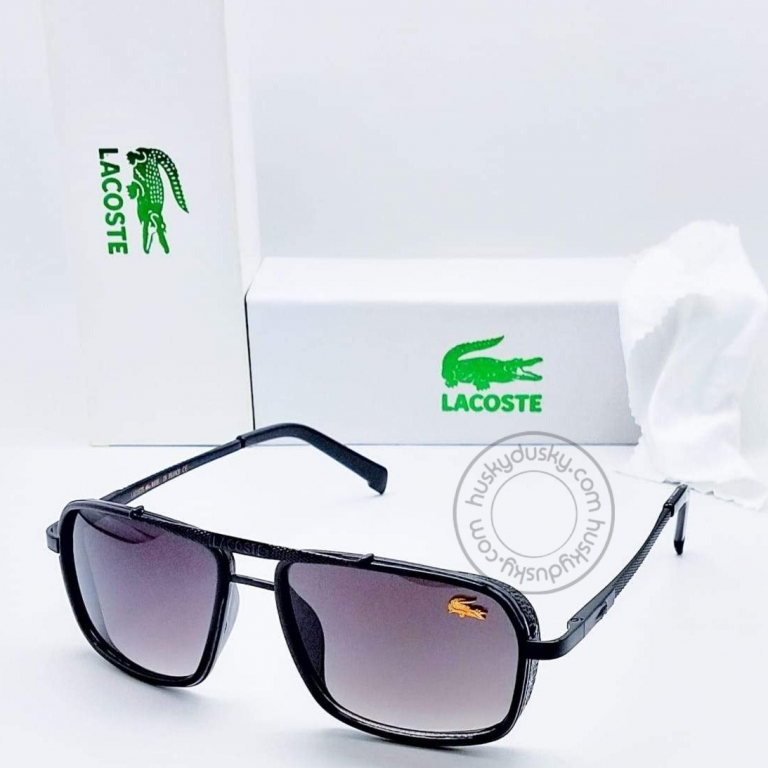 Lacoste Branded Purple Glass Men's Sunglass For Man With Balck Frame LS-555 Gift Sunglass