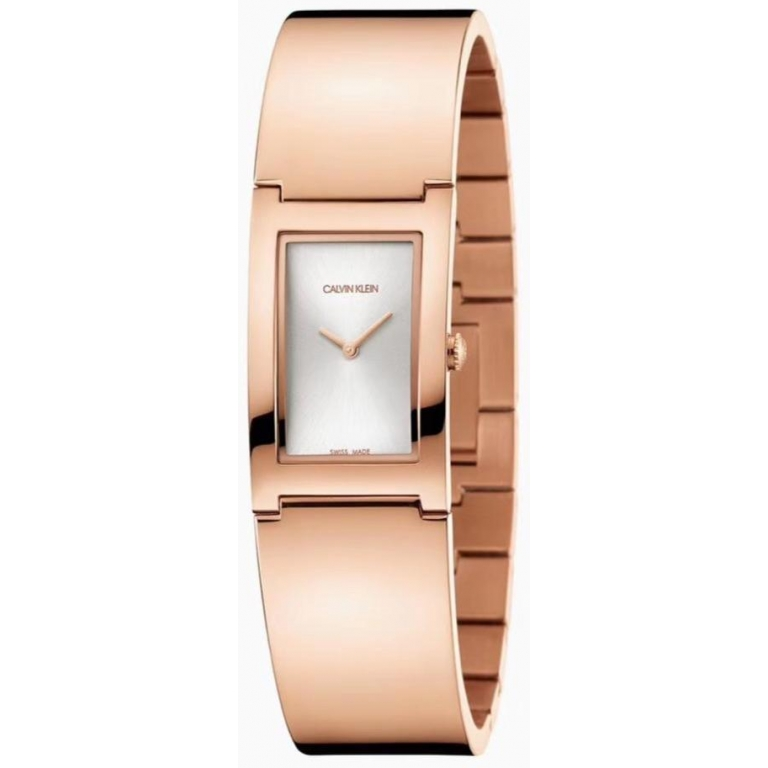 Calvin Klein Rose Gold Women's Watch For Girl or Woman CK-56 White Dial Metal Strap- Gift
