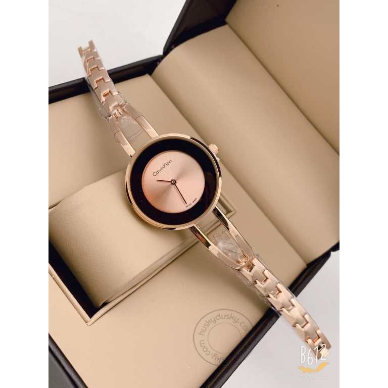 Calvin Klein Gold Women's Watch For Girl or Woman CK-101 Multi Color Dial Metal Strap- Gift