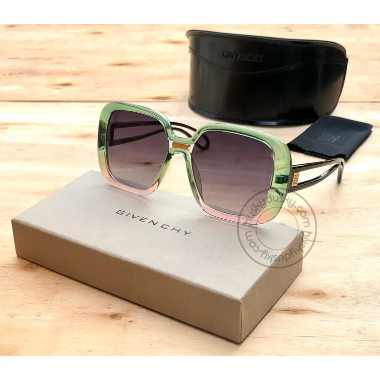 Givenchy Branded Multi Color Glass Women's Square Sunglass for Woman or Girl GY-180 Desingn Stick Frame Gift Sunglass