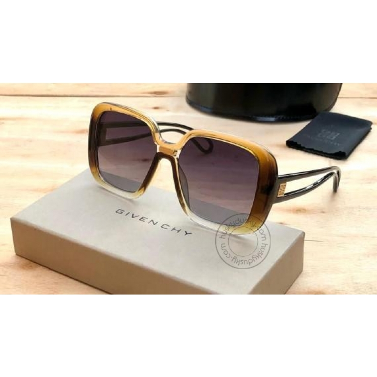 Givenchy Branded Multi Color Glass Women's Square Sunglass for Woman or Girl GY-182 Desingn Stick Frame Gift Sunglass