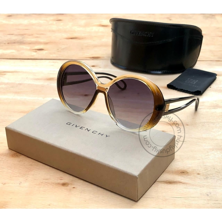 Givenchy Branded Multi Color Glass Women's Oval Sunglass for Woman or Girl GY-190 Desingn Stick Frame Gift Sunglass