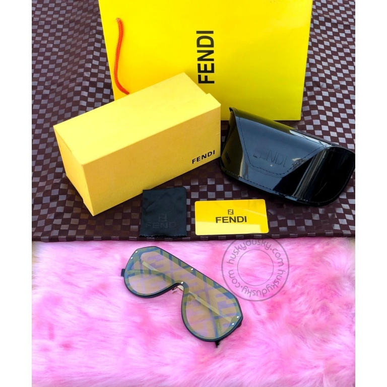 FENDI BRANDED Men's SUNGLASS FOR Man FOR MEN's YELLOW SHADE SUNGLASS WITH GOLD&BLACK STICK FN-03 FOR MAN GIFT