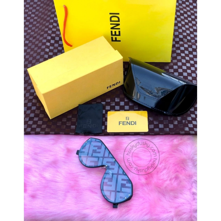 FENDI BRANDED Men's SUNGLASS FOR Man FOR MEN's BLUE SHADE SUNGLASS WITH GOLD&BLACK STICK FN-02 FOR MAN