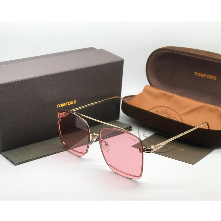 Tom Ford Latest Design Pink Color Glass Men's Women's For Man Woman or Girl TF-400 Gold Frame Sunglass
