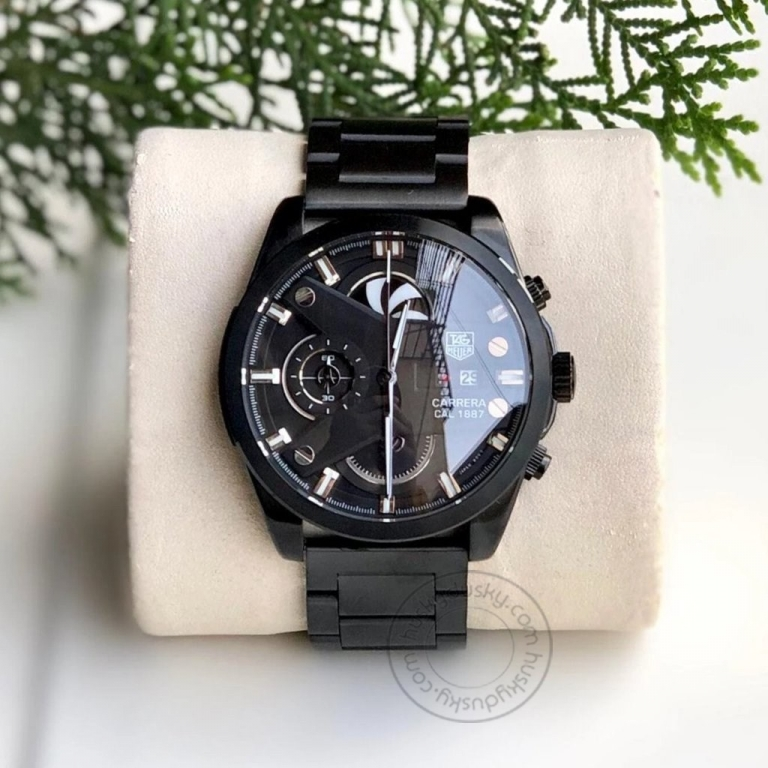 Imported GRAND CARRERA CR7 1887 Black Chronograph Multi Dial Stainless Steel TH-1887-B Men's Watch for Man - Gift