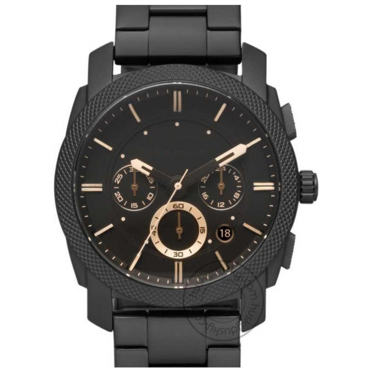 Imported Machine Chronograph Black Dial Men's Watch for Man FS4682 (Best Gift For Man)