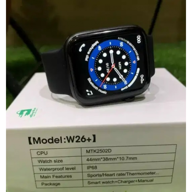 W26 PLUS Smart Watch Scroll Button Control 1.75 inch full touch screen Series 6 Bluetooth Call Heart Rate