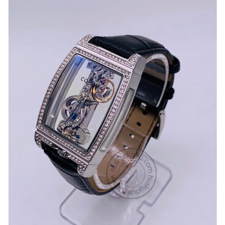 Corum Automatic Watch Good Quality Black Leather Watch for Man A-CR02- Best Gift