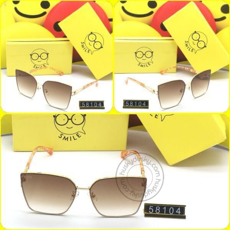 Smile Brown Glass Women's Sunglass for Woman or Girl SM-D-33 Multi Color Frame Gift Sunglas