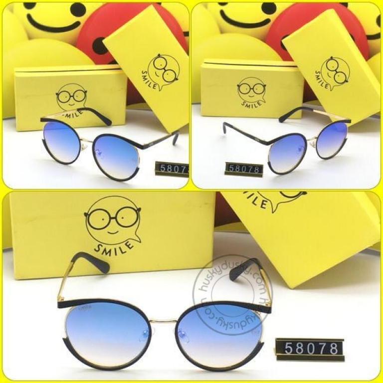 Smile Double Shaded Glass Man's Women's Sunglass for Man Woman or Girl SM-AA-11 Black GoldenFrame Gift Sunglas