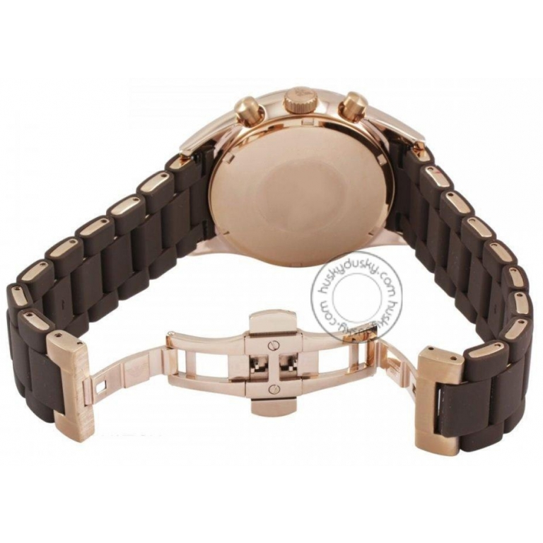 Improted Chronograph Brown Silicone Men's Watch Ar5890