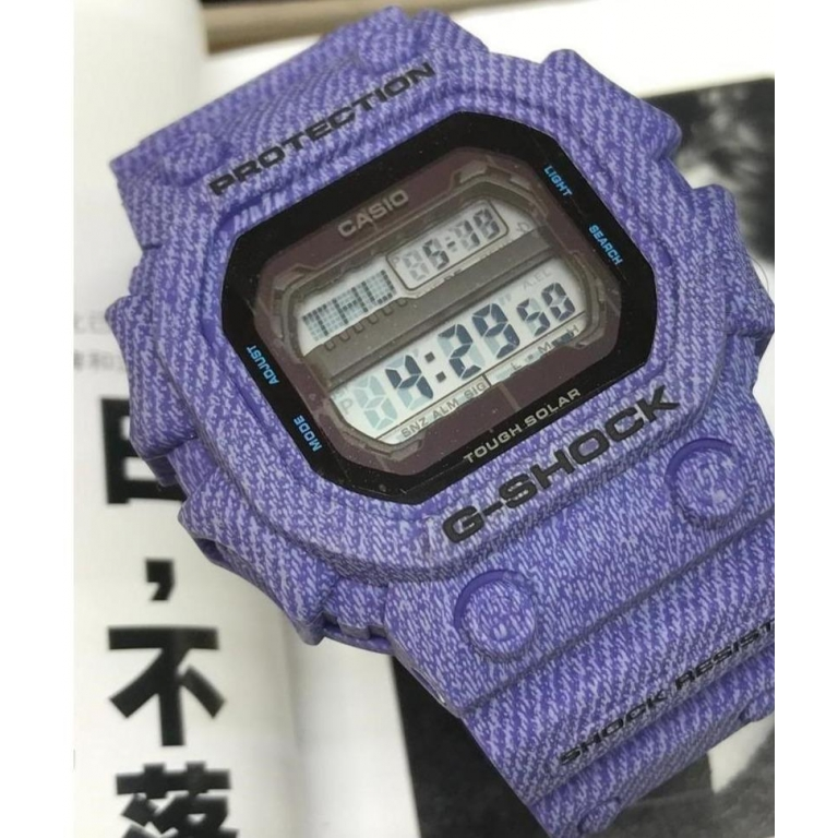 Casio G-Shock Analog Digital Blue Jeans Belt Men's Watch For Man GX-56 Black Color Dial Day And Date Gift Watch