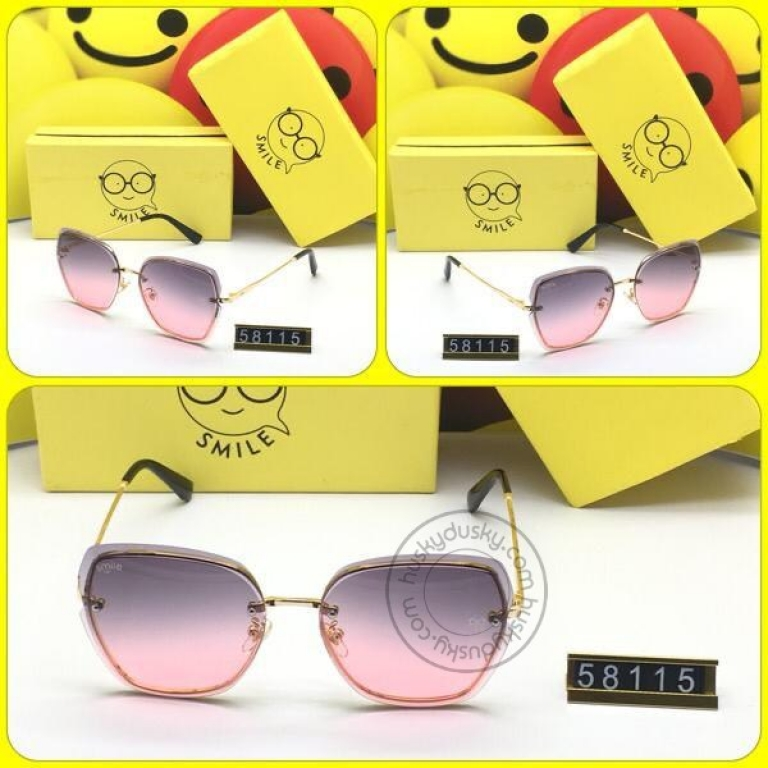 Smile Multi Color Glass Man's Women's Sunglass for Man Woman or Girl SM-BC-99 Black Golden Frame Gift Sunglas