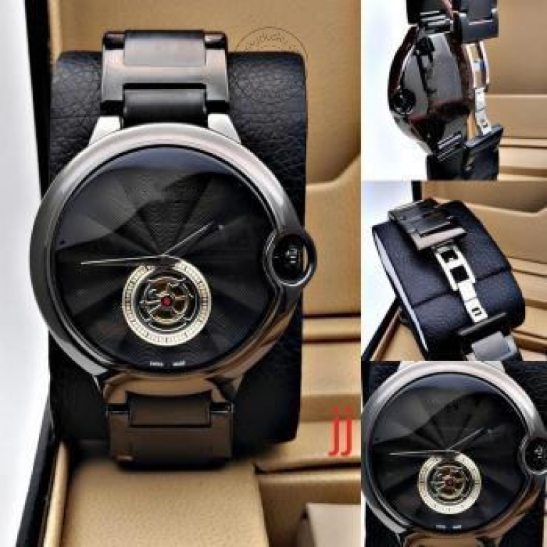 Imported Black Metal Men's Watch for Man CRTR-BLACK Stainless Steel Best Gift for Man